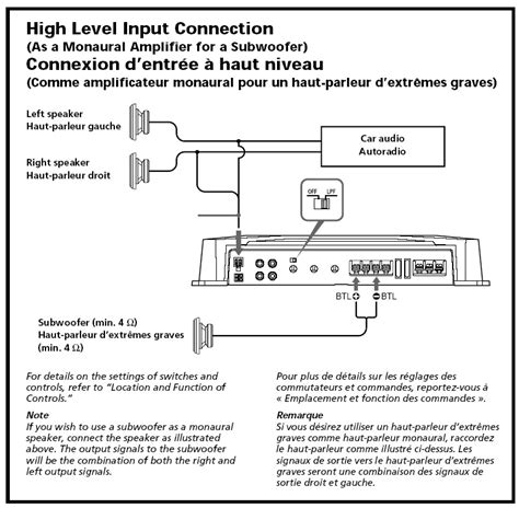 sony xplod amp wiring diagram get free image about