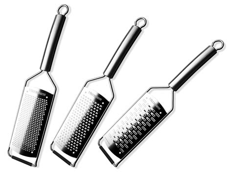 microplane professional  piece stainless steel grater set cutlery