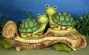 Garden Turtles Ping & Pong - Unfinished Ceramic Statue Crafts