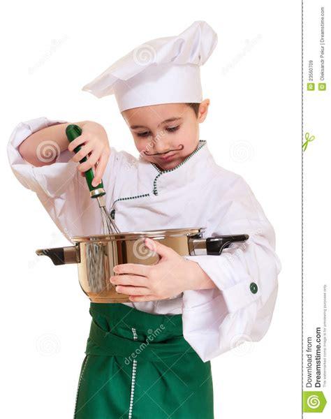 petit ustensile de cuisine petit chef avec l 39 ustensile de cuisine image stock image