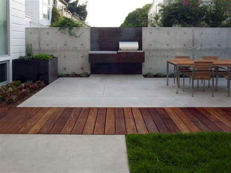 concrete patio ideas unique backyard retreats