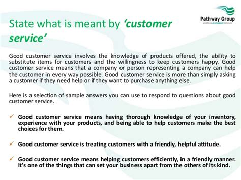 What Does Customer Service To You Answer by Customer Service Level 1 Working In A Customer Services