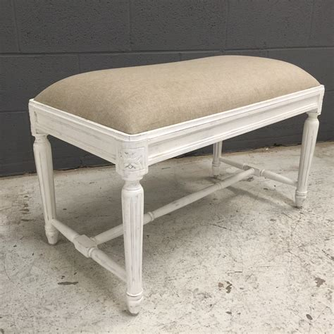Small Upholstered Storage Bench by Small Upholstered Bench With Fluted Legs Nadeau Nashville