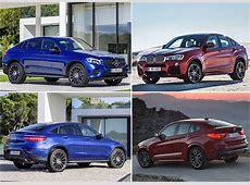 MercedesBenz GLC Coupé vs BMW X4 comparativa visual