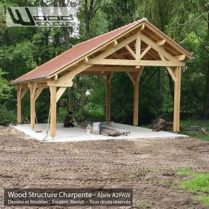Abris 2 pans asymetrique charpente bois wood structure for Plan maison en pente 15 abris 2 pans asymetrique charpente bois wood structure