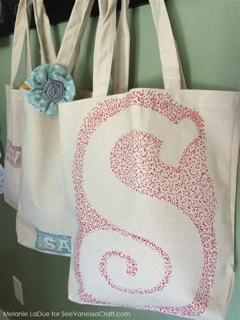 craft tutorial personalized canvas bags  vanessa craft