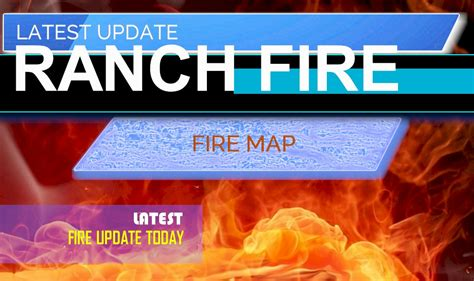ranch fire map  red bluff fire tehama today