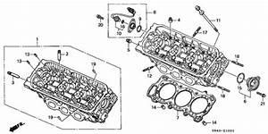 Front Cylinder Head  V6  For 2000 Honda Accord Sedan
