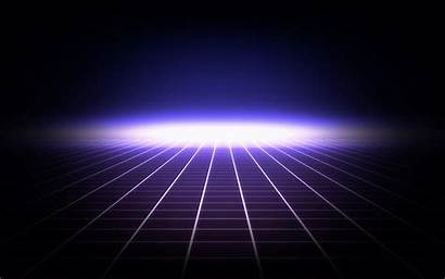 Neon Retro Grid Futuristic Digital Flares Desktop