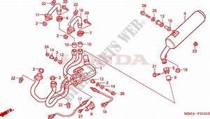 Exhaust Muffler  Vfr800fiy  1  For Honda Vfr 800 2001   Honda Motorcycles  U0026 Atvs Genuine Spare