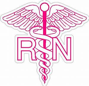 6 RN Registered Nurse Caduceus Snake medical symbol