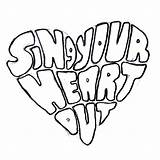 Choir Coloring Heart Sing Cool Quotes Sheet Sketch Locker Pages Classroom Bulletin Humor Posters Club Boards Singing Signs Reward Walls sketch template
