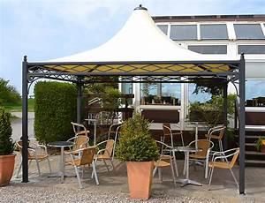 Pavillon Metall Wetterfest : pavillon wetterfest auf einer terrasse ~ Watch28wear.com Haus und Dekorationen