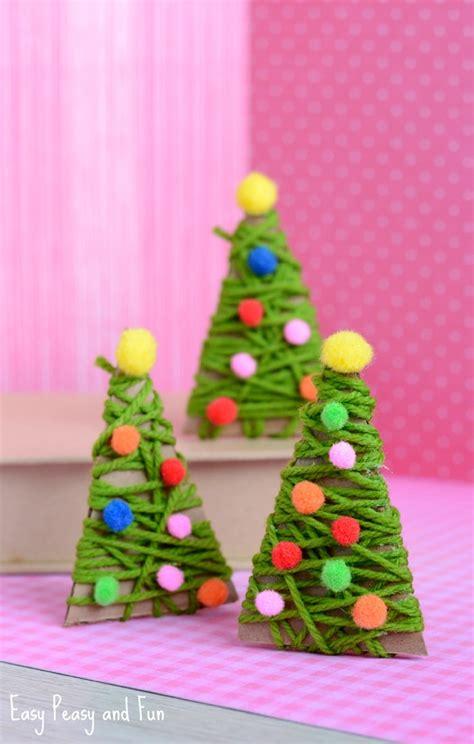 yarn wrapped christmas tree ornaments easy peasy  fun
