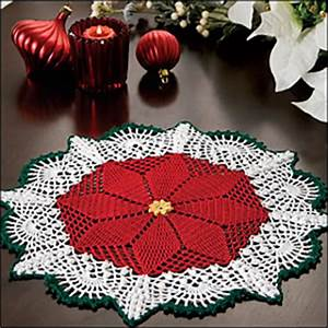 Ravelry Poinsettia Doily pattern by Gemma Owen