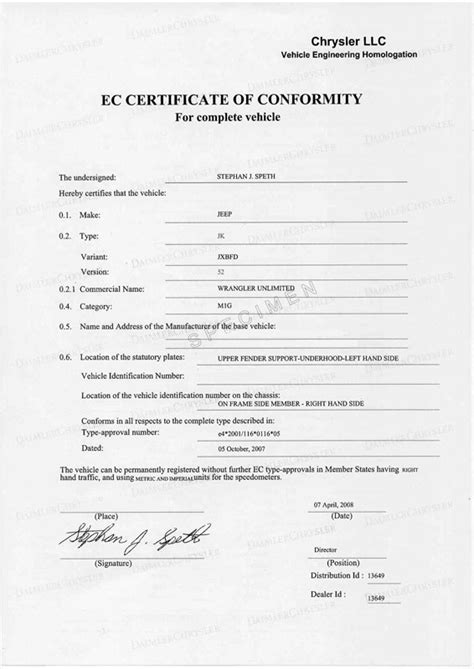Certificate of conformity | EuroCoc