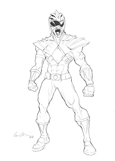green power ranger  coloring pages