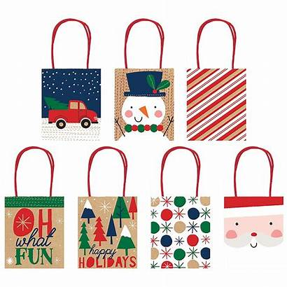 Bags Gift Christmas Kraft 7ct Party Icon