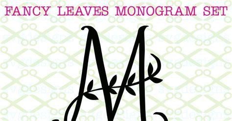 fancy leaves monogram svg  cricut silhouette