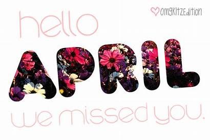 April Hello Missed Welcome Gambar Halo Bergerak