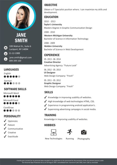 Cv Style by Cv Builder Professional Cv Maker Craftcv