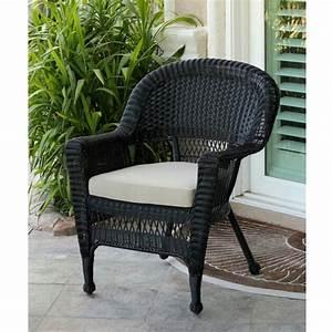 36, u0026quot, , black, resin, wicker, outdoor, patio, garden, chair, with, tan, cushion, -, walmart, com