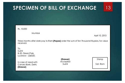 bill of exchange pdf download