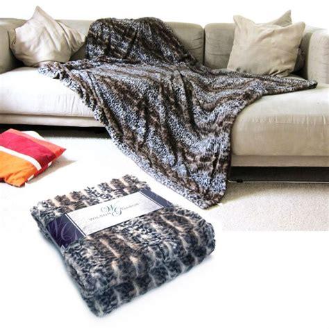 Kuscheldecke Wildkatze  Flauschig Weiche Polyester Decke