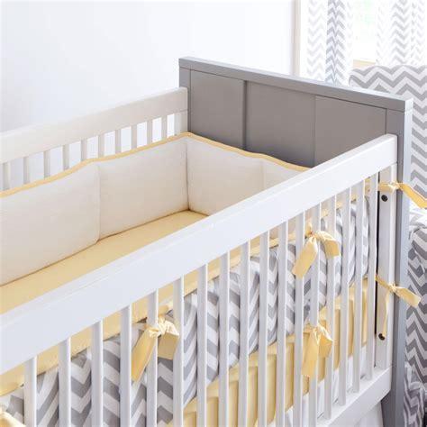 baby crib bumpers gray and yellow zig zag crib bumper carousel designs