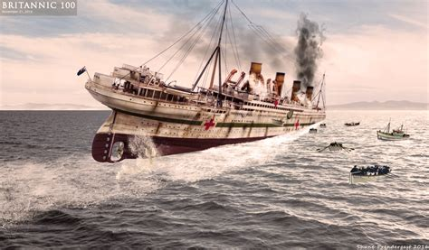 Sinking Of The Britannic by Of The Britannic By Lusitania25 On Deviantart