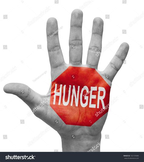 what does the hunger sign hunger raised hand stop sign on stock photo 162135989