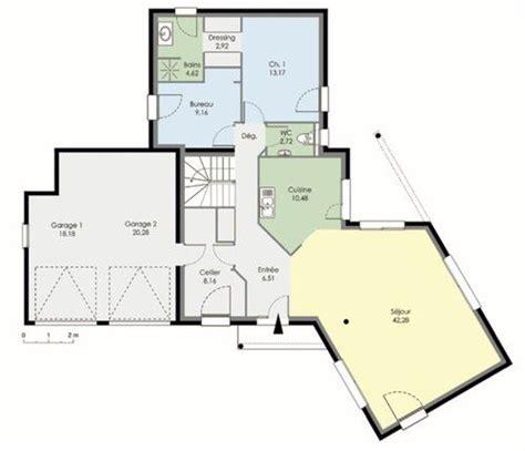 plan maison plain pied 3 chambres 1 bureau maison contemporaine dé du plan de maison