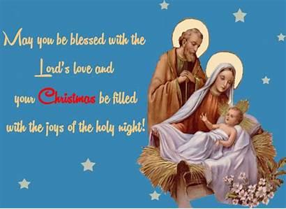 Night Holy Religious Christmas Cards Greeting Greetings