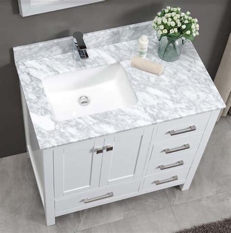 constantia bathroom vanity white carrara marble top