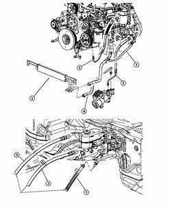 Dodge Ram 2500 Hose  Power Steering Return  Gear To Cooler