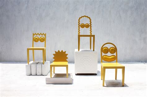 Chairs Designed To Look Like The Simpsons
