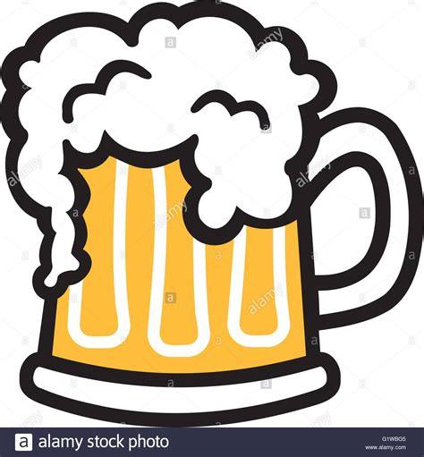 cartoon drinking alcohol bier becher comic mit schaum vektor abbildung bild