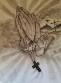 Praying Hands with Doves Drawings