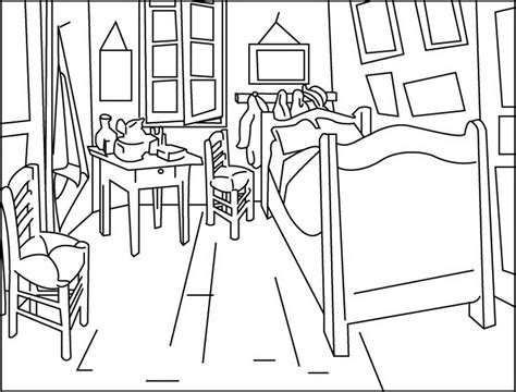 chambre gogh a dining room coloring pages