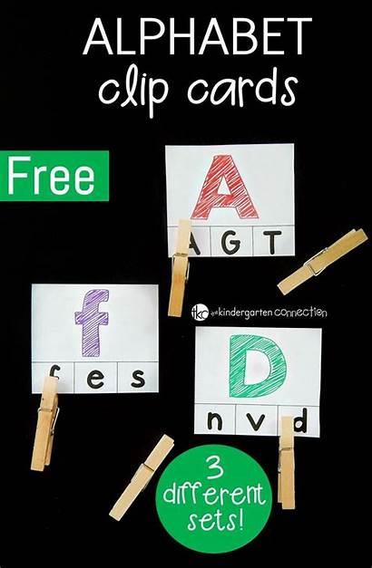 Preschool Alphabet Cards Clip Kindergarten Letters Letter
