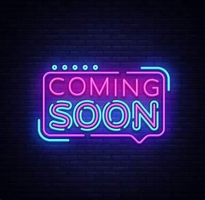 coming, soon, neon, sign, vector, , coming, soon, badge, in, neon