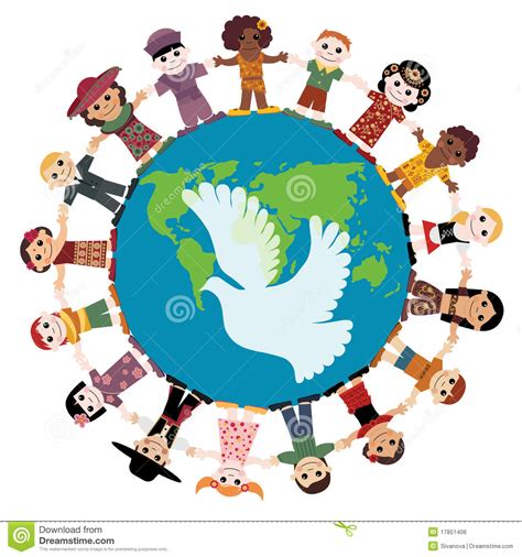 happy children holding around the globe royalty free stock image image 17851406