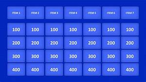 jeopardy game powerpoint templates With jeopardy online game template