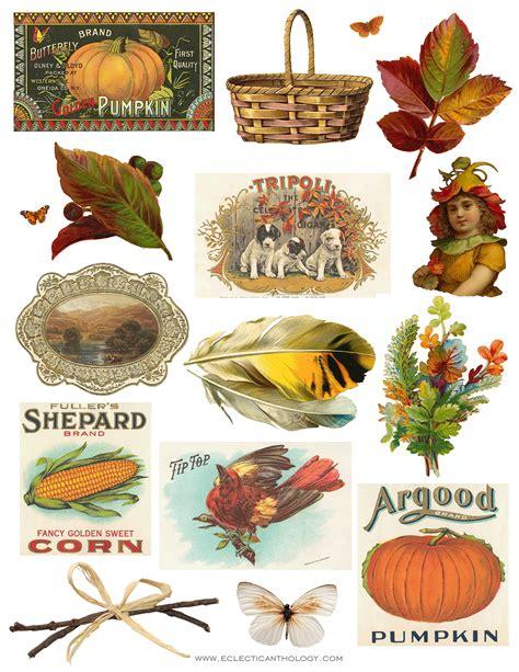 Vintage Fall Autumn Clip Art Free