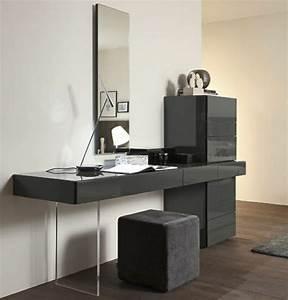 Coiffeuse Moderne Avec Miroir : jolie coiffeuse avec miroir 40 id es pour choisir la meilleure ~ Teatrodelosmanantiales.com Idées de Décoration