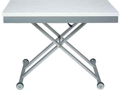 table hauteur réglable table verre hauteur reglable