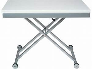 Table Basse Reglable Hauteur : table verre hauteur reglable ~ Carolinahurricanesstore.com Idées de Décoration