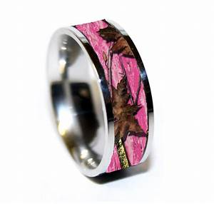 pink camo camouflage wedding rings camo rings 1 With camo wedding rings for her