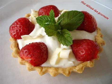 dessert fraise chocolat blanc recette tarte au chocolat blanc et fraises rapide 750g
