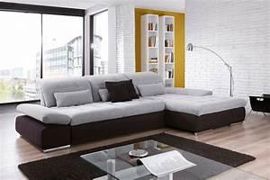 Couch Von Milben Befreien : ecksofa santa fe von poco in hellgrau schwarz m bel letz ihr online shop ~ Indierocktalk.com Haus und Dekorationen